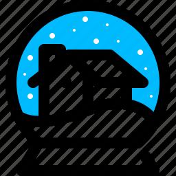 globe, house, snow, winter icon