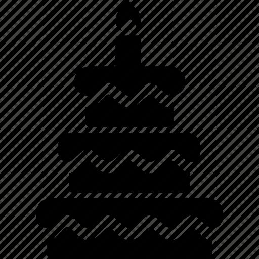cake, christmas, holiday, vacation, winter icon