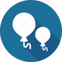 balloons, christmas, holiday, vacation, winter icon