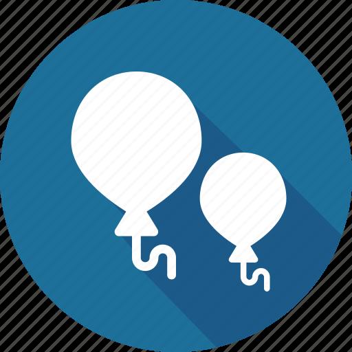 balloons, christmas, holiday, vacation, winter icon