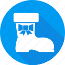 boot, christmas, holiday, vacation, winter icon