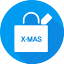 bag, christmas, holiday, shopping, vacation, winter icon