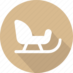 christmas, holiday, sleigh, vacation, winter icon