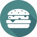 burger, christmas, holiday, vacation, winter icon