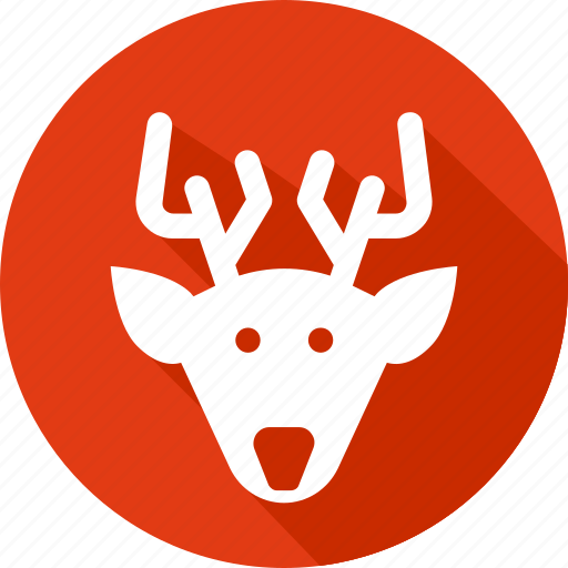 christmas, deer, holiday, vacation, winter icon