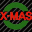 christmas, holiday, logo, mas, vacation, winter, x icon