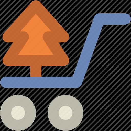 Christmas shopping, christmas tree, shopping cart, tree, tree in cart, tree shopping icon - Download on Iconfinder