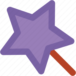 fairy wand, magic stick, magic wand, magical stick, magical wand, wizard wand icon