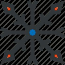 blue, red, seasone, snow, snowflake, winter icon