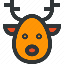animal, deer, horns, santa deer icon