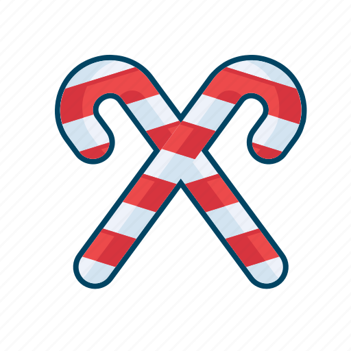 bonbon, candy, christmas, decoration, stick, sweet icon
