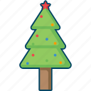 christmas, decoration, fir, tree, xmas icon