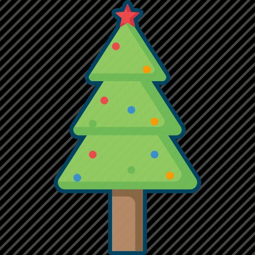 christmas, decoration, fir, tree, xmas icon