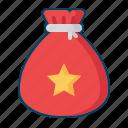 bag, gift, present, santa, santaclaus icon