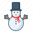 celebration, christmas, decoration, holiday, snowman icon