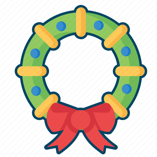 christmas, decoration, lesf, mistletoe, wreath icon