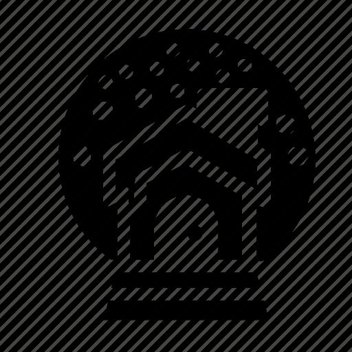 cabin, house, snowglobe icon