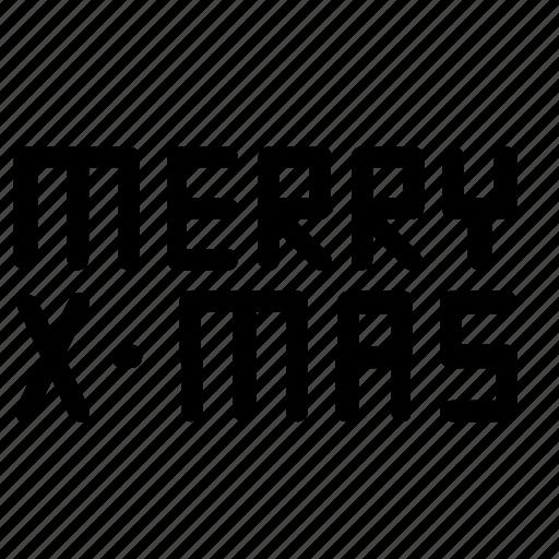 christmas, merry, x-mas icon