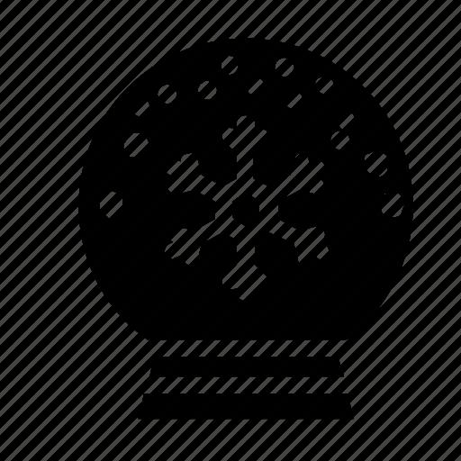 snow globe, snowflake icon