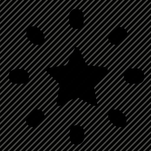 ornament, star icon