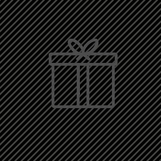 christmas, gift, line, outline icon