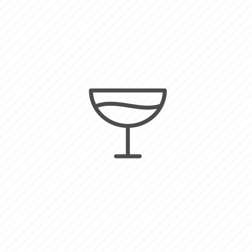 christmas, glass, line, outline, wineglass icon