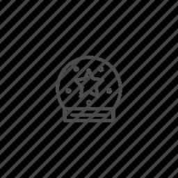 ball, christmas, line, outline, tree, xmas icon