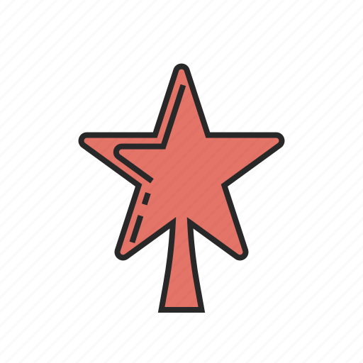 christmas, new, star, winter, year icon