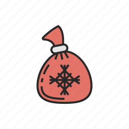 bag, christmas, of, sweets, winter icon