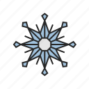 christmas, snowflake, winter icon