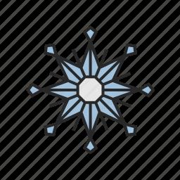 christmas, snowflake, winter icon