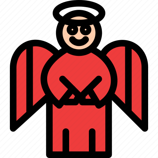 angel, christmas, festival, holiday, vacation icon