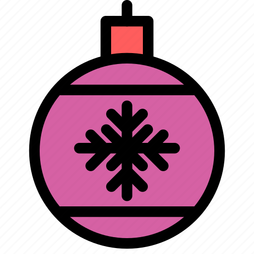 bauble, christmas, festival, holiday, vacation icon