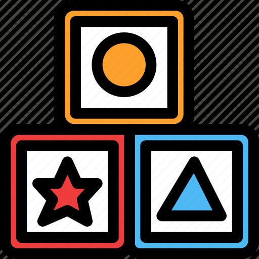 blocks, christmas, festival, holiday, vacation icon