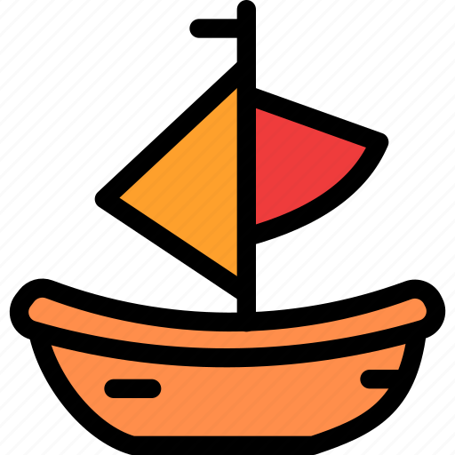 boat, christmas, festival, holiday, vacation icon