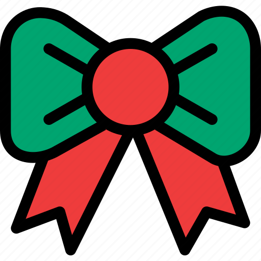 bow, christmas, festival, holiday, vacation icon