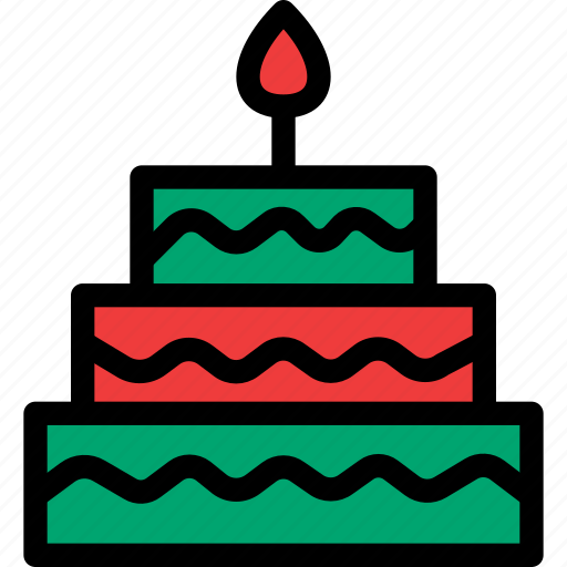 cake, christmas, festival, holiday, vacation icon