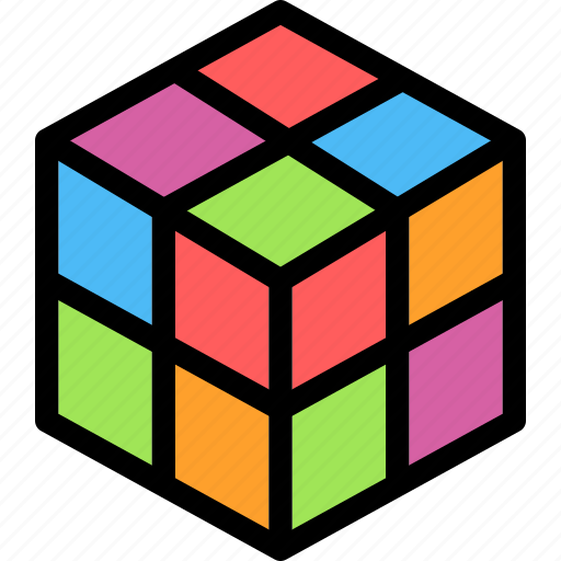 christmas, cube, festival, holiday, vacation icon