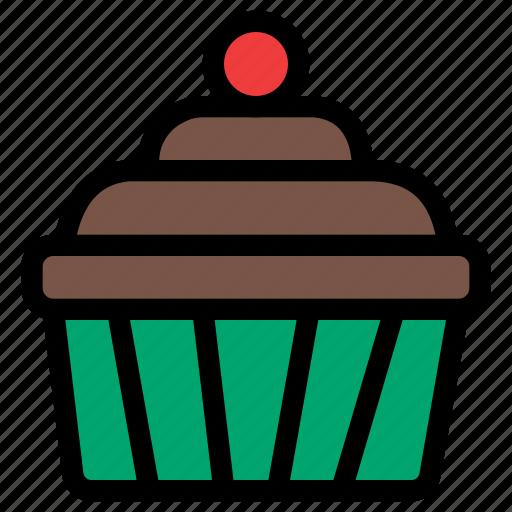christmas, cupcake, festival, holiday, vacation icon