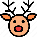 christmas, deer, festival, head, holiday, vacation icon