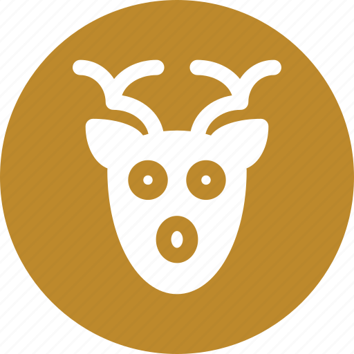 animal, deer, face, santa icon