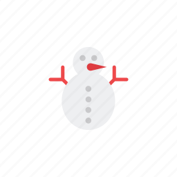 cold, cone, ice, moon, snowflakes, snowman, weather icon