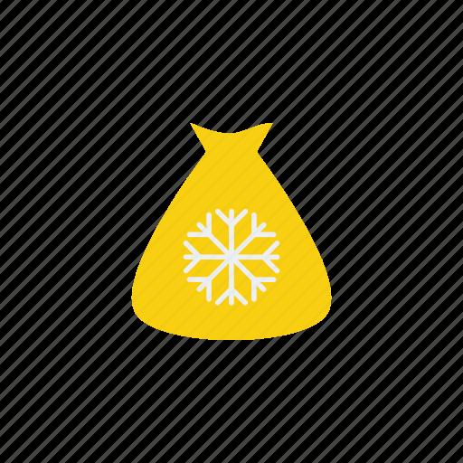bag, ice, ice bag, snow, winter icon