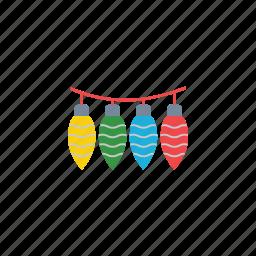 bulb, christmas, creative, electric, electricity, lightbulb, ornament icon