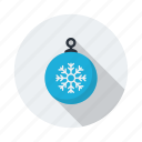 bauble, cloud, cold, decoration, forecast, snow, xmas icon