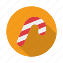 cake, candy cane, cane, documents, sweets icon