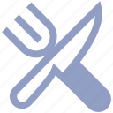 diagonal, fork, fork and knife, kitchen, knife icon