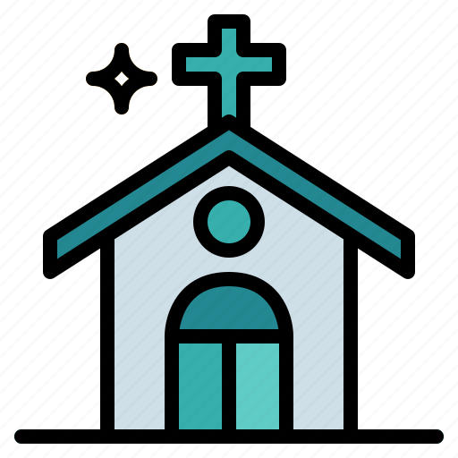 buildings, christian, church, religion icon