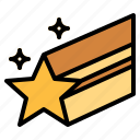 astronomy, shooting, star, wink icon