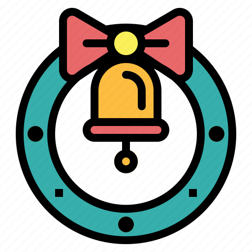 bow, christmas, decoration, wreath icon